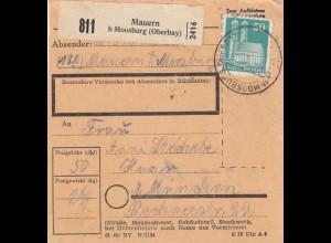 BiZone Paketkarte 1948: Mauern nach Haar bei München