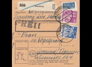 BiZone Paketkarte 1948: Starnberg nach Gmund Tegernsee