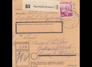 BiZone Paketkarte 1948: Ingolstadt nach Haar