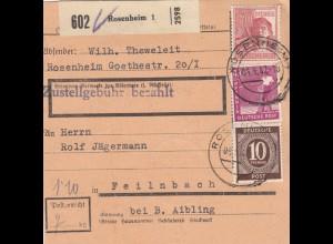 BiZone Paketkarte 1947: Rosenheim nach Feilnbach