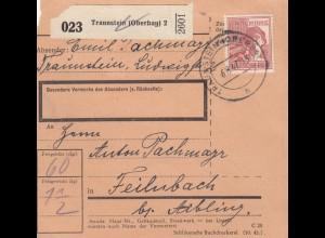 BiZone Paketkarte 1947: Traunstein nach Feilnbach