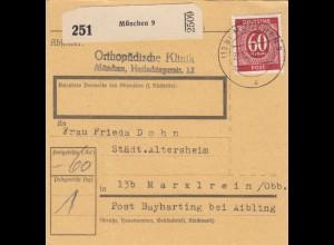 BiZone Paketkarte 1946: München nach Marxlrein