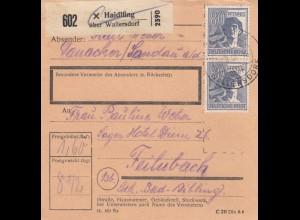 BiZone Paketkarte 1947: Haidlfing nach Feilnbach
