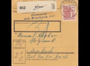 BiZone Paketkarte 1947: Miesbach nach Jenbach, Nachgebühr