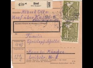 BiZone Paketkarte 1947: Hoof nach Haar bei München