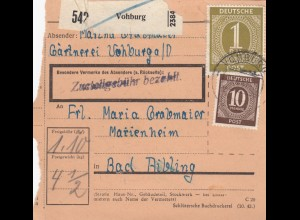 BiZone Paketkarte: Vohburg nach Bad Aibling