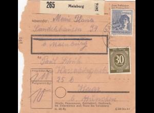 BiZone Paketkarte: Mainburg nach Haar bei München