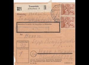 BiZone Paketkarte 1947: Traunstein nach Haar b. München