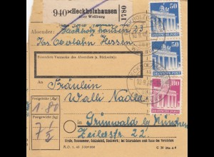 BiZone Paketkarte 1948: Heckholzhausen nach Grünwald