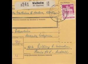 BiZone Paketkarte 1948: Walheim nach Eglfing b. München