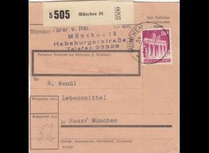 BiZone Paketkarte 1948: München nch Haar/München, Lebensmittel