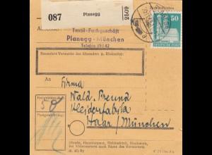 BiZone Paketkarte 1948: Planegg nach Haar/München