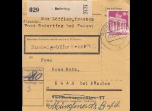 BiZone Paketkarte 1948: Ruderting nach Haar bei München
