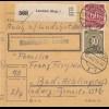 BiZone Paketkarte 1947: Landshut nach Bad-Aibling