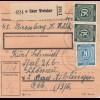 BiZone Paketkarte 1947: Bissenberg über Wetzlar nach Bad Aiblingen