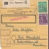BiZone Paketkarte 1948: Augsburg nach Gut Ottendich bei Vaterstetten