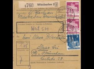 BiZone Paketkarte 1948: Wiesbaden nach Haar, Wertkarte