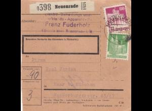 BiZone Paketkarte 1948: Neuenrade nach Haar