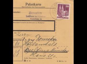 BiZone Paketkarte 1948: Lochham nach Heilanstalt Haar