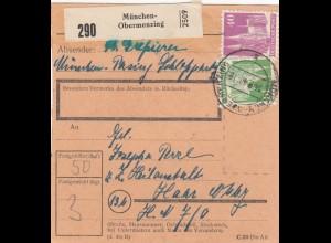 BiZone Paketkarte 1948: Pasing Obermerzing nach Haar, Heilanstalt