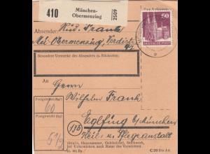 BiZone Paketkarte: Obermenzing nach Eglfing, Pflegeanstalt