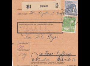 BiZone Paketkarte 1948: Buchloe nach Haar Eglfing