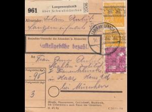 BiZone Paketkarte 1948: Langenneufnach nach Haar, Frauenklinik