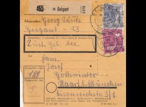 BiZone Paketkarte 1948: Geigant nach München
