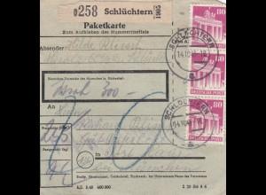 BiZone Paketkarte 1948: Schlüchtern nach Post Haar, Wertkarte, seltenes Formular