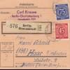 BiZone Paketkarte 1947: Berlin-Siemensstadt nach Haar