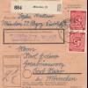 BiZone Paketkarte 1948: München 22 nach Post Haar