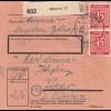 BiZone Paketkarte 1948: München 12 nach Haar b. München