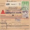 BiZone Paketkarte 1948: München nach Eglfing, Nachnahme, Wertkarte