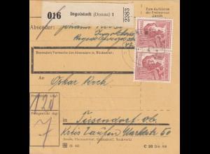 BiZone Paketkarte 1948: Ingolstadt nach Teisendorf