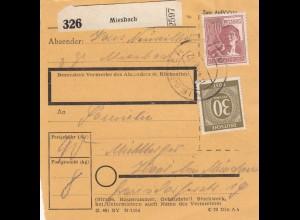 BiZone Paketkarte 1948: Miesbach nach Haar