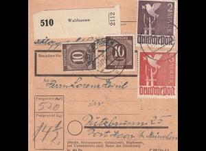 BiZone Paketkarte 1947: Waldsassen nach Putzbrunn