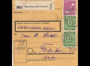BiZone Paketkarte 1946: Moosburg nach Feilnbach