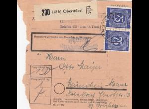 BiZone Paketkarte 1948: Oberstdorf nach München Haar