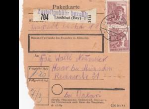 BiZone Paketkarte 1948: Landshut nach Haar