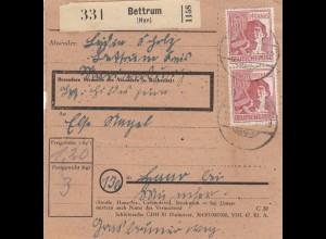 BiZone Paketkarte 1947: Bettrum nach Haar bei München
