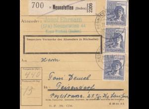 BiZone Paketkarte 1948: Neunstetten nach Teisendorf