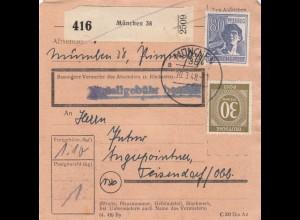 BiZone Paketkarte 1948: München 38 nach Teisendorf