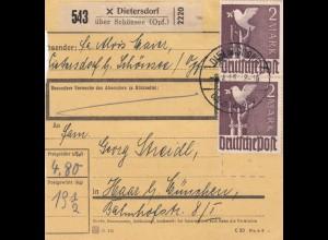 BiZone Paketkarte 1948: Dietersdorf über Schönsee nach Haar