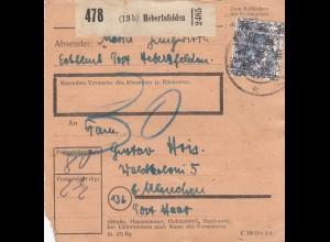 BiZone Paketkarte: Hebertsfelden nach München