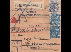 BiZone Paketkarte: Pfronten/Weißbach, Tauschzentrale nach Oberammergau Nachnahme