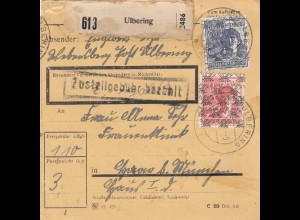 BiZone Paketkarte 1948: Ulbering nach Haar, Frauenklinik