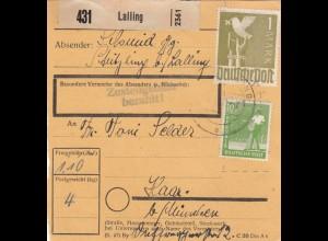 BiZone Paketkarte 1948: Lalling Stritzling nach Haar