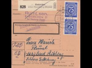 BiZone Paketkarte 1947: Ehekirchen nach Bad Aibling