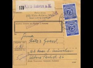 BiZone Paketkarte 1947: Klein-Auheim nach Haar