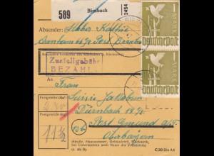 BiZone Paketkarte 1947: Birnbachnach Aunham nach Gmund